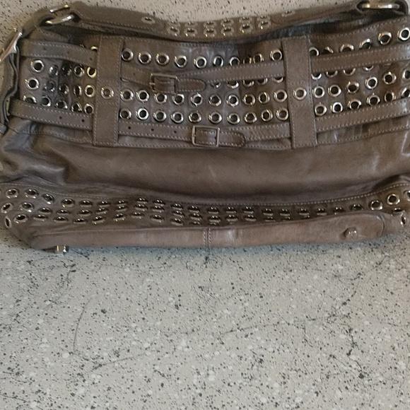 Rebecca Minkoff Handbags - Olive leather Rebecca Minkoff grommet hobo.